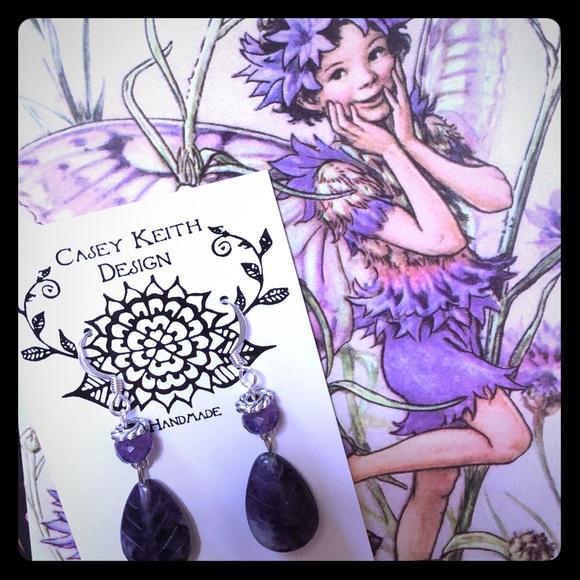 Purple Fleurite Earrings